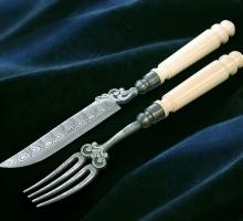 coltello e forchetta artigianale